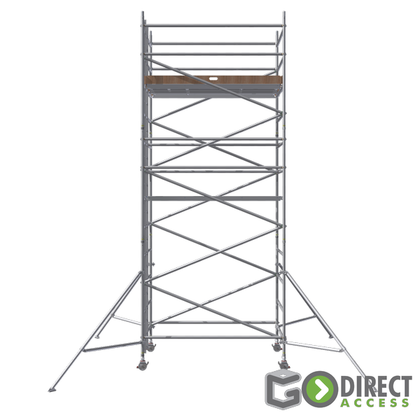 GDA500-DW Mobile Scaffold Tower-5M platform height (7M working height)-2m Long