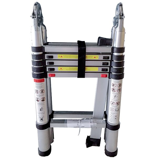 Telescopic Ladder - Double Sided Soft Close with stabilising leg