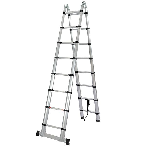 Telescopic Ladder - Double Sided Soft Close with stabilising legg