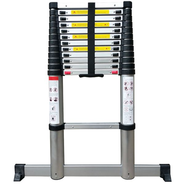 Telescopic Ladder 2.6M Soft Close with stabilising Leg 2.6