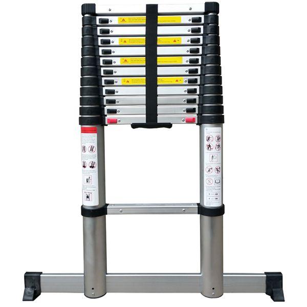 Telescopic Ladder 2.9M Soft Close with Stabilising Leg