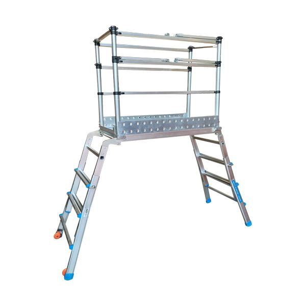 Scaffold Ladder Fully Extended Left Side view