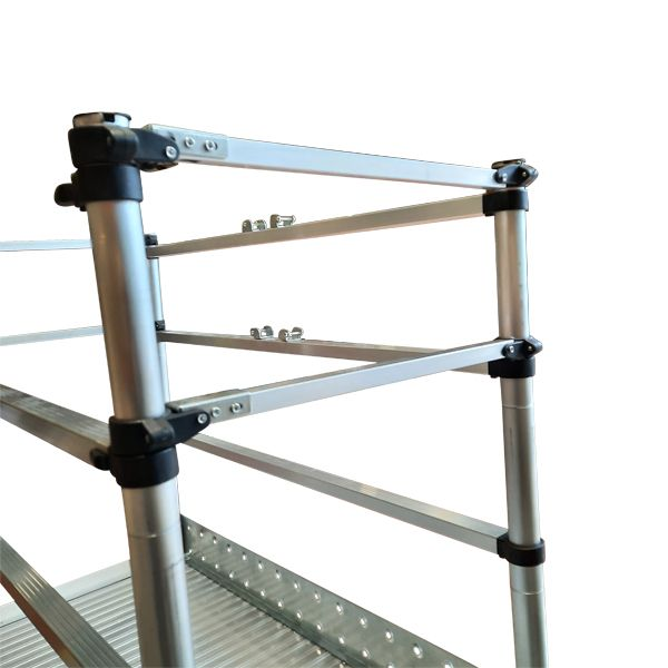 Scaffolding Ladder with guardrail closed