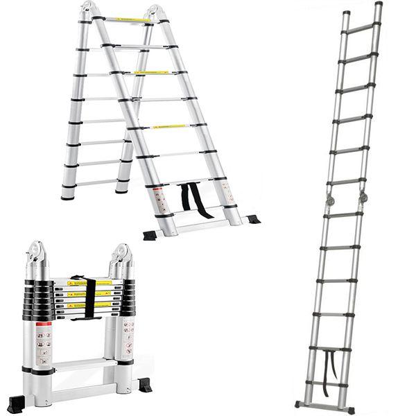 Aluminium Telescopic Ladder - Double Sided