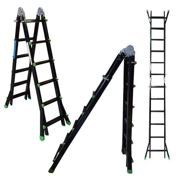 Multi-purpose Ladder Black/ Green 5.1m
