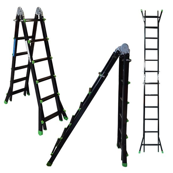 Multi-purpose Ladder Black/ Green 6.2m