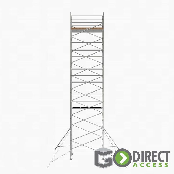 GDA500-DW Mobile Scaffold Tower-10M platform height (12M working height)-2m Long
