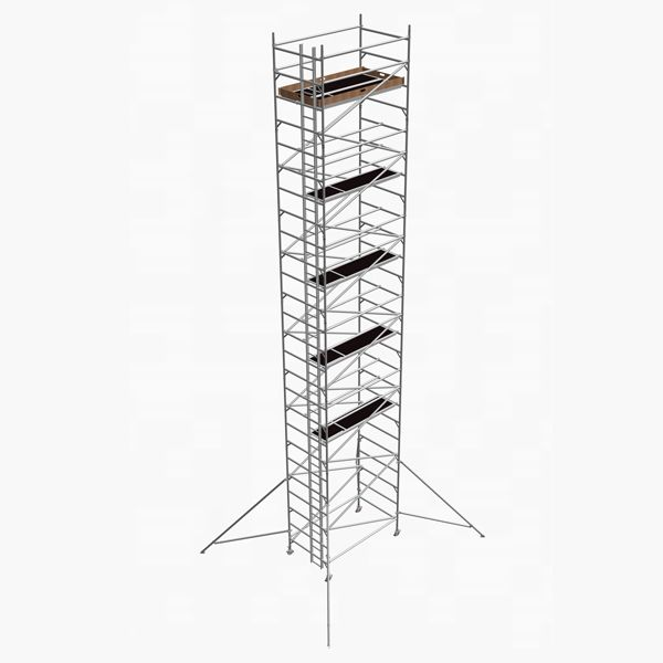 GDA500-DW Mobile Scaffold Tower-12M platform height (14M working height)-2m Long