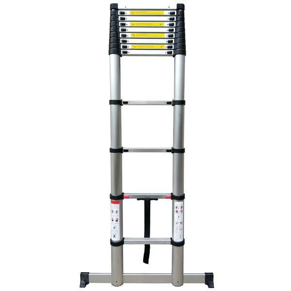Telescopic Ladder 2.6M Soft Close with stabilising Leg 2.6