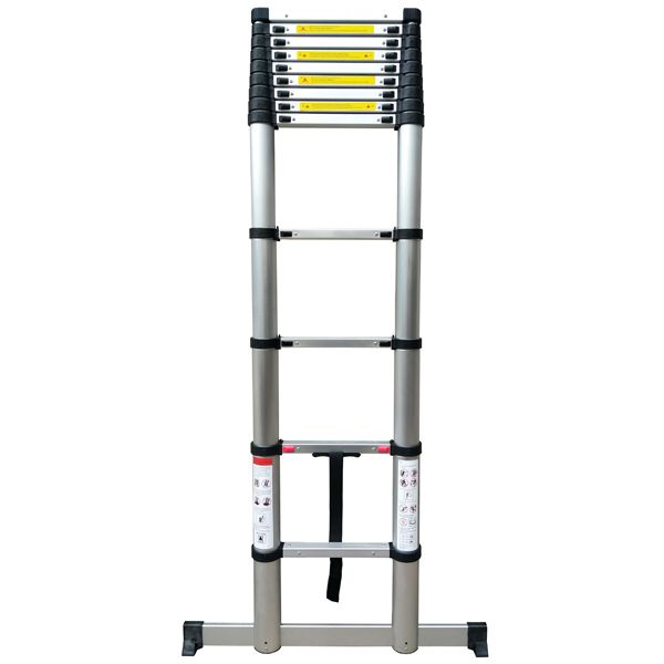 Telescopic Ladder 3.8M Soft Close with Stabilising Leg
