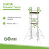 Extension pack for GDA250 Mobile Scaffolding tower Pack 4