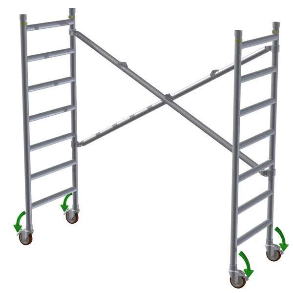 GDA300 Trade Scaffold Tower 0.9M (2.9M Working Height)